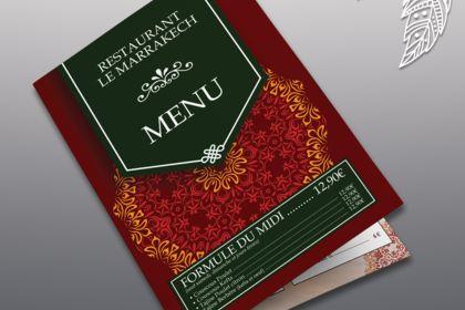 Menu Restaurant le Marrakech