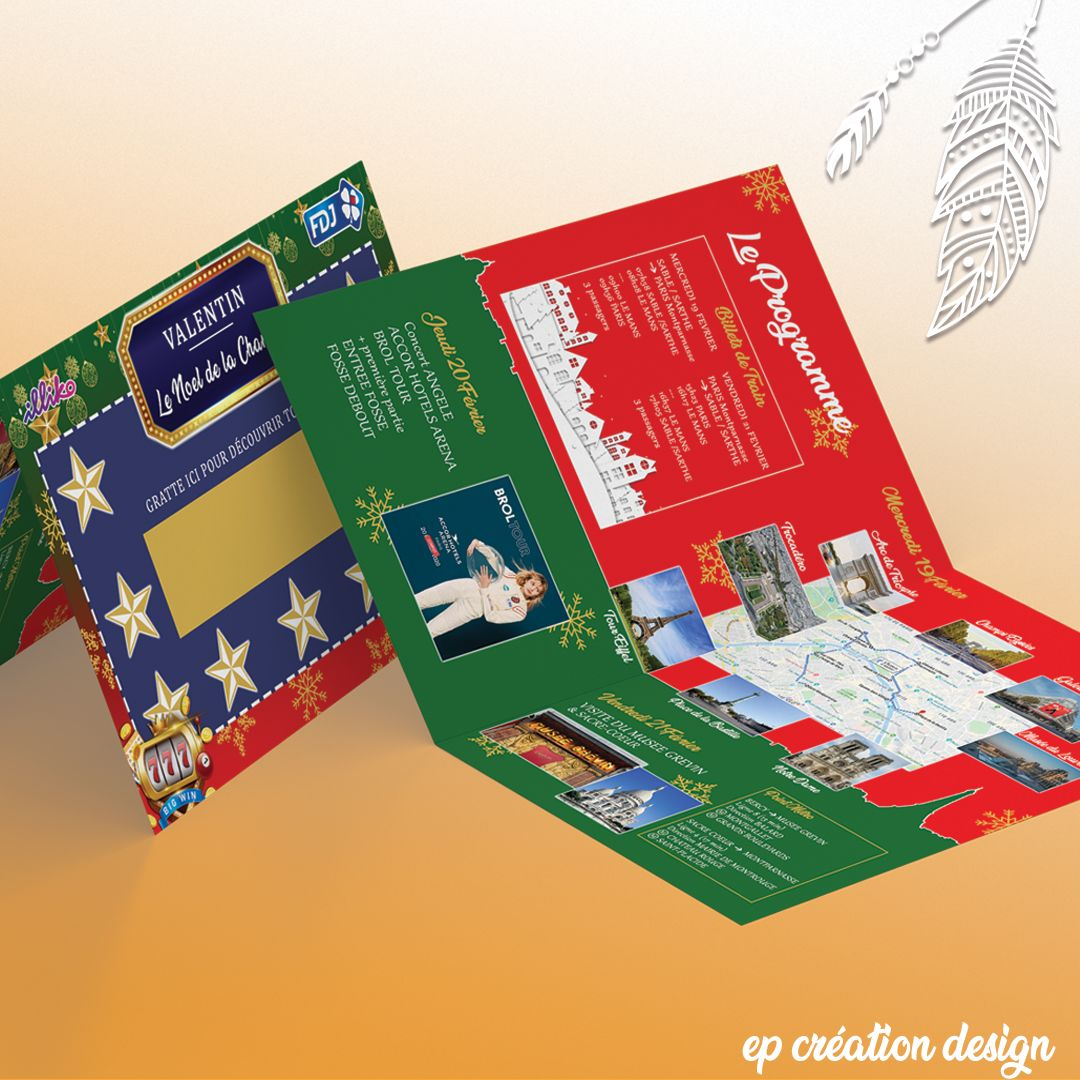 Carte de Noel Grattage