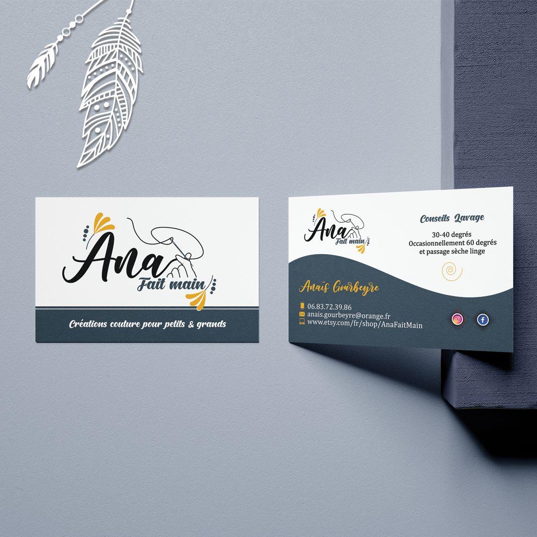 Cartes de visite design et percutante