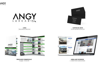 Logo et supports communication : Angy Lux Car