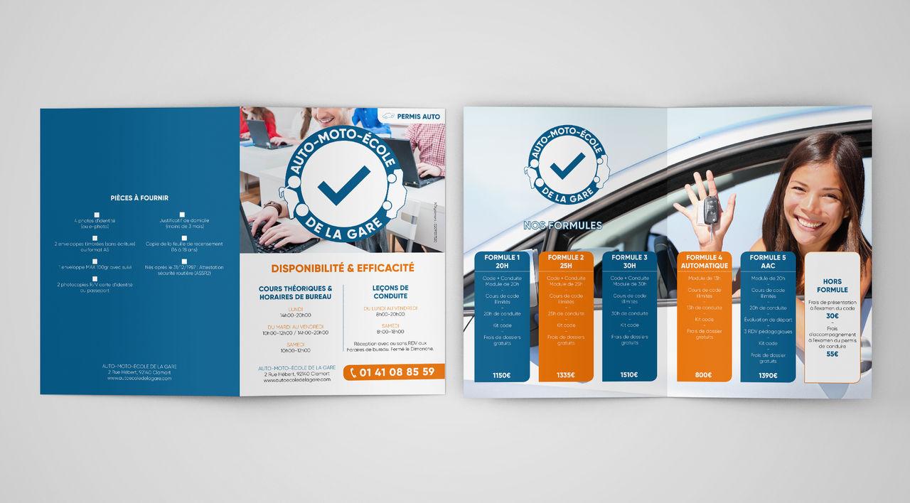 Logo + Brochure : AME Gare de Clamart
