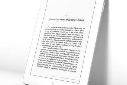 Mise en Page ebook de l'Ile au trésor