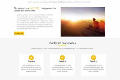 Site web entrainement