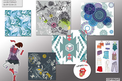 GRAPHISMES TEXTILE  ET ILLUSTRATIONS