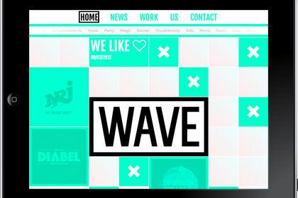 Création du site de l'agence Wave Design Bruxelles