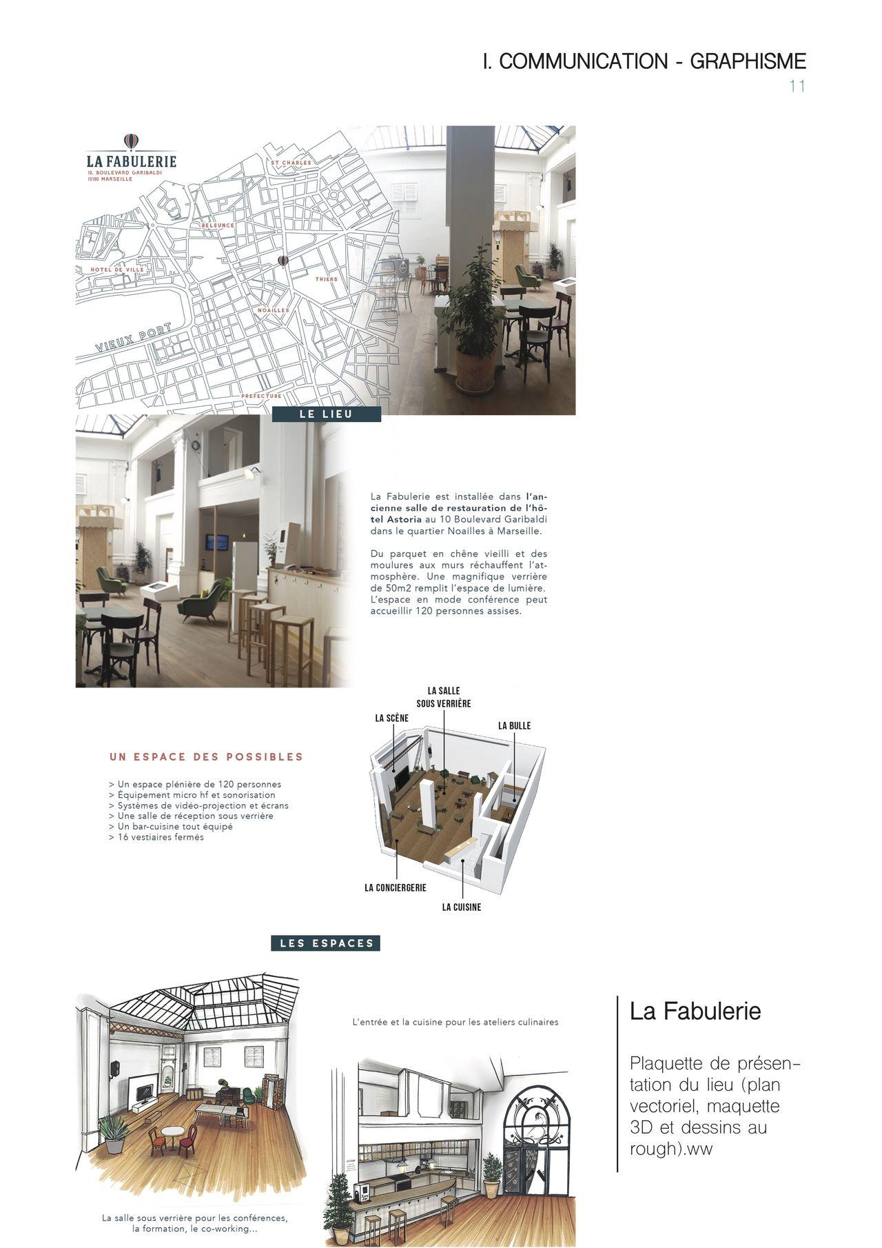 Mise en page design pour La Fabulerie
