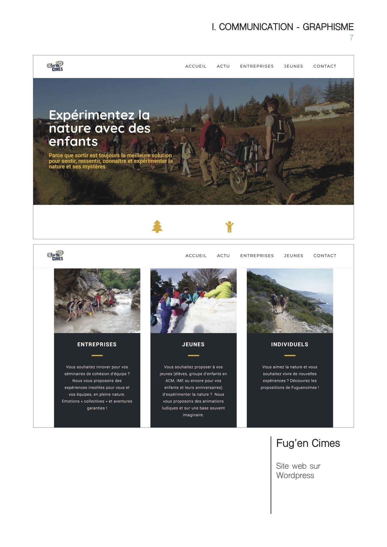 Webdesign (sous Wordpress)