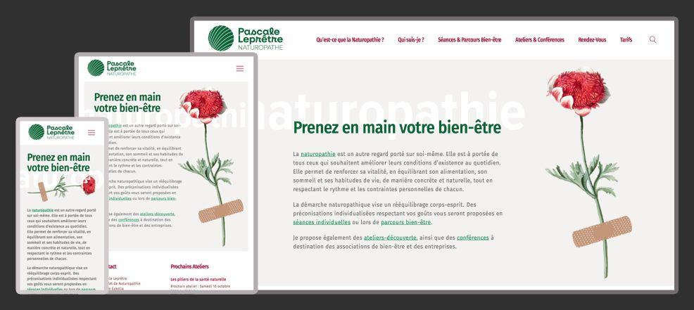 Logo et site web pour : naturopathe