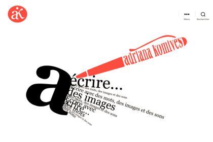 Logo, visuels et site web pour adriana-komives.com