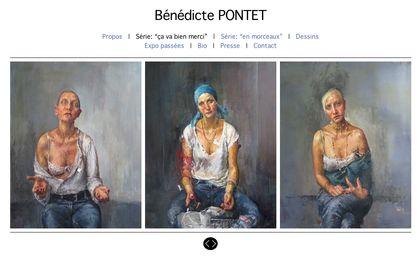 Site web - portfolio pour artiste peintre