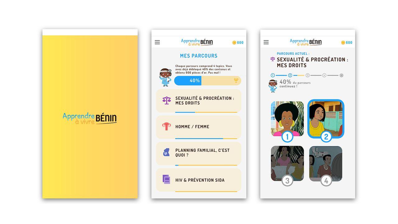 Design d'application pour LaL Benin
