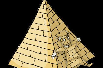 L'homme et la pyramide