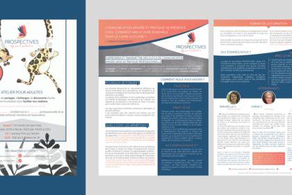 Création de flyers pour l'Association Prospectives