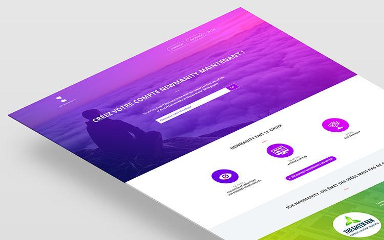 Design landing page et mailling