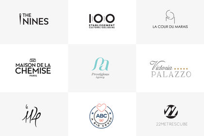 Divers logotypes pour differents domaines