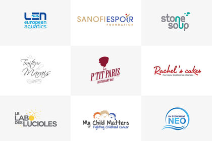 Logos marques, fondations, fooding, sports