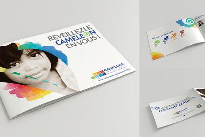 Brochure pour l'association Caméléon