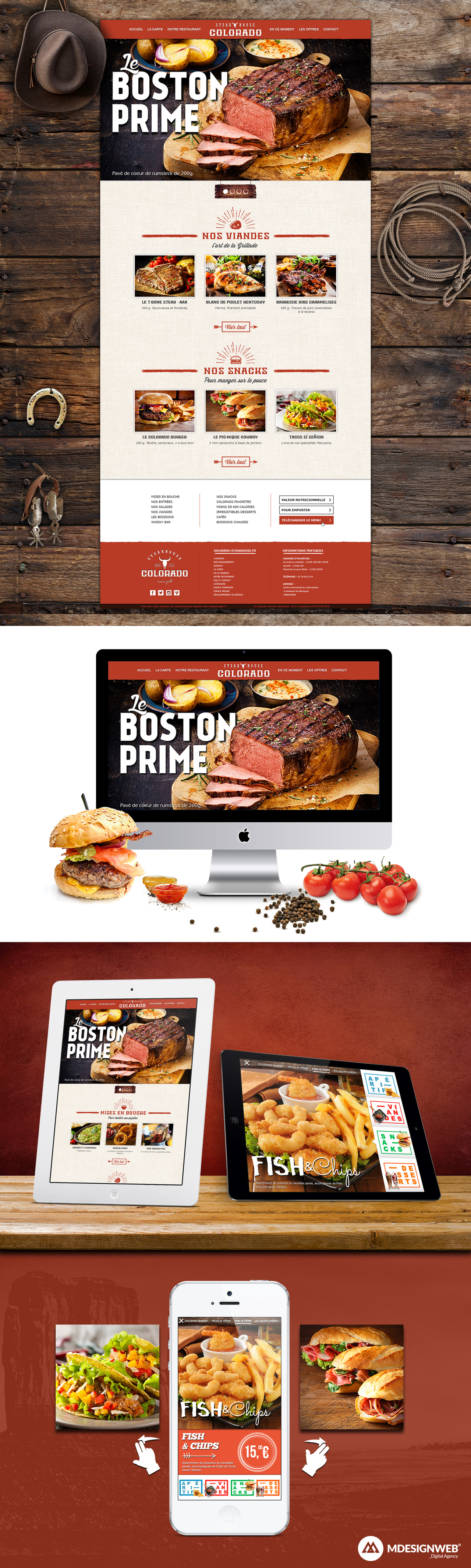 Colorado Steakhouse - Responsive Design