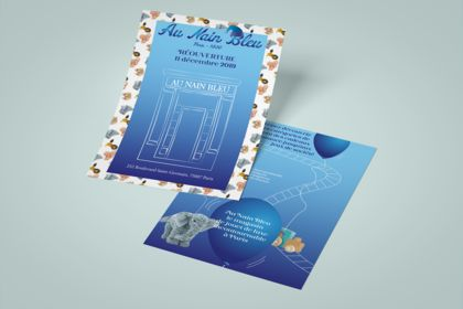Flyer réouverture Nain Bleu