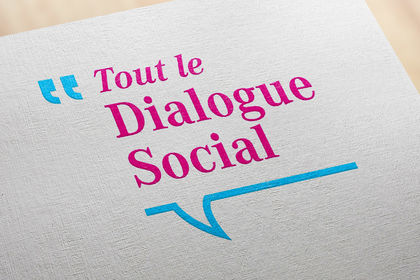 """Création de logo """"Tout le dialogue social"""""""