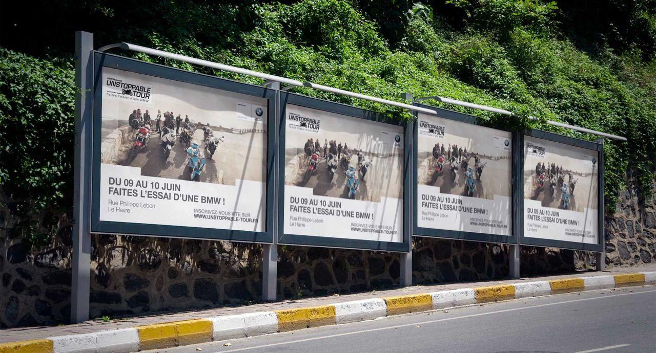 Campagne d'affichage pour BMW