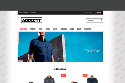 Webdesign pour le site e-commerce ADDICT