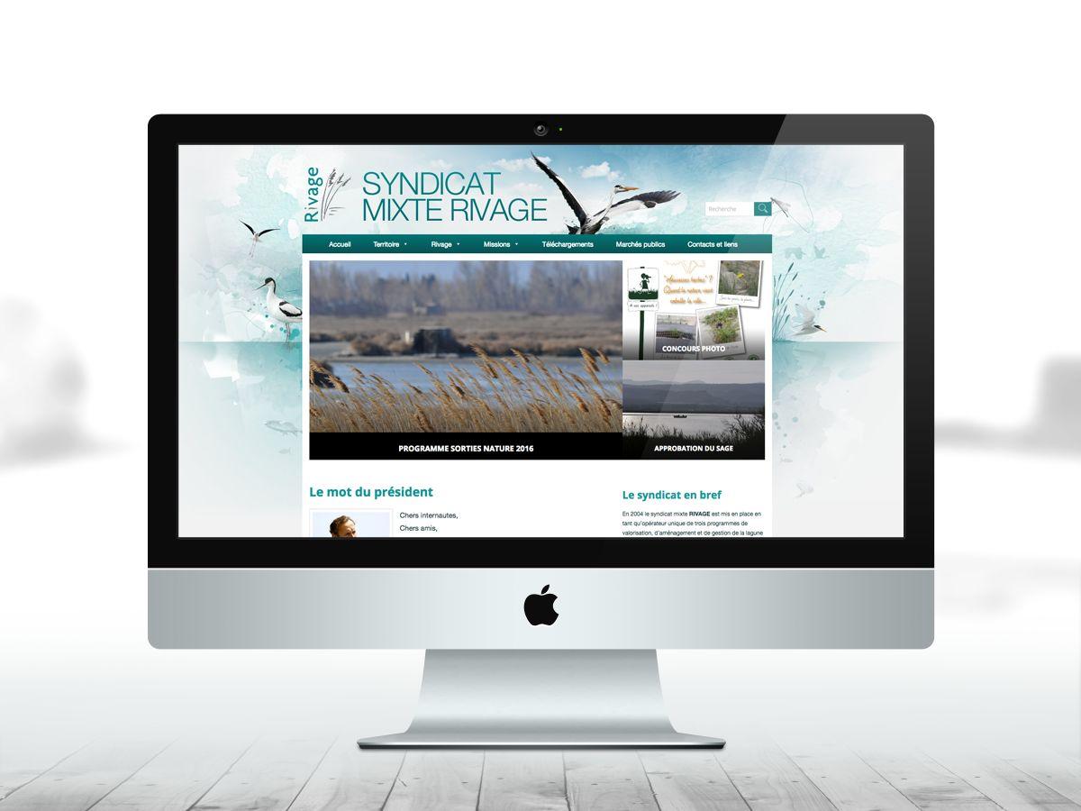 Site web pour le syndicat mixte rivage Leucate