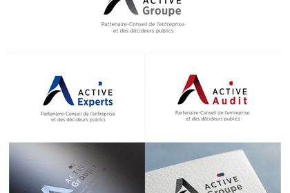 Création des logos Active Group, Active Audit