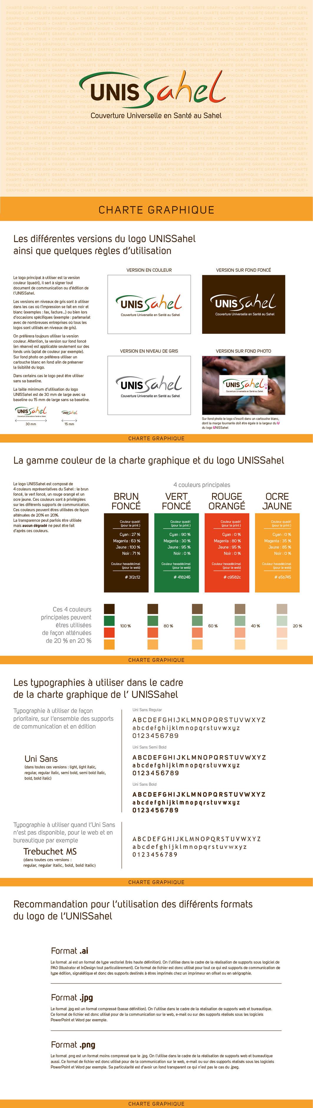 Logo et charte graphique UNISSahel (IRD)