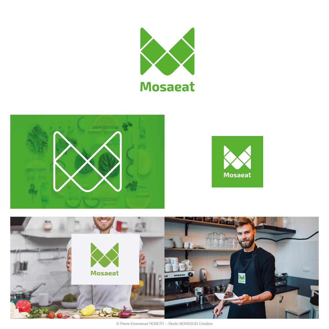 Création du logo Mosaeat