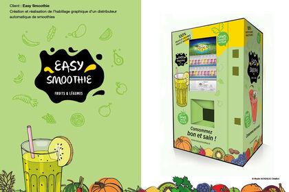 Easy Smoothie - Identité / covering distributeur
