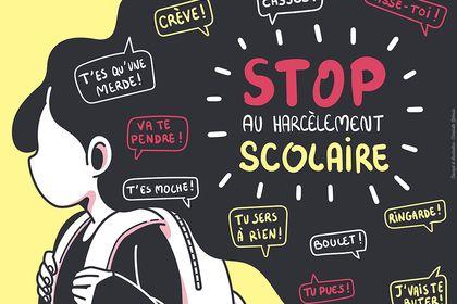 """Illustration """"Harcèlement scolaire"""""""