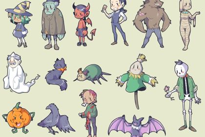 Halloween personnages