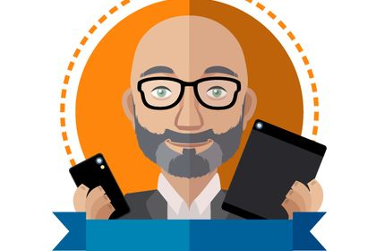 Portrait en flat design