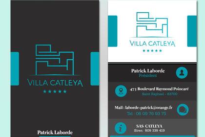 Carte de visite : Villa Catleya