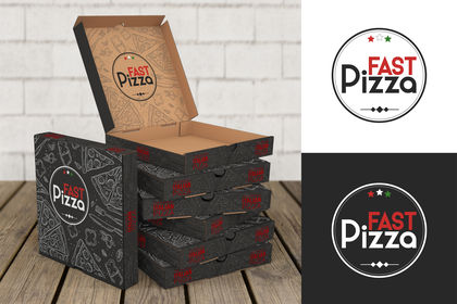 """Logo+packaging  """"FAST Pizza """""""