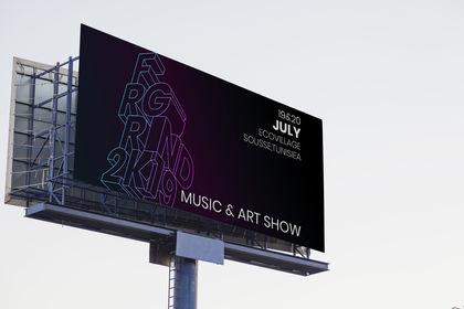 Panneau d'affichage pour FAIRGROUND festival