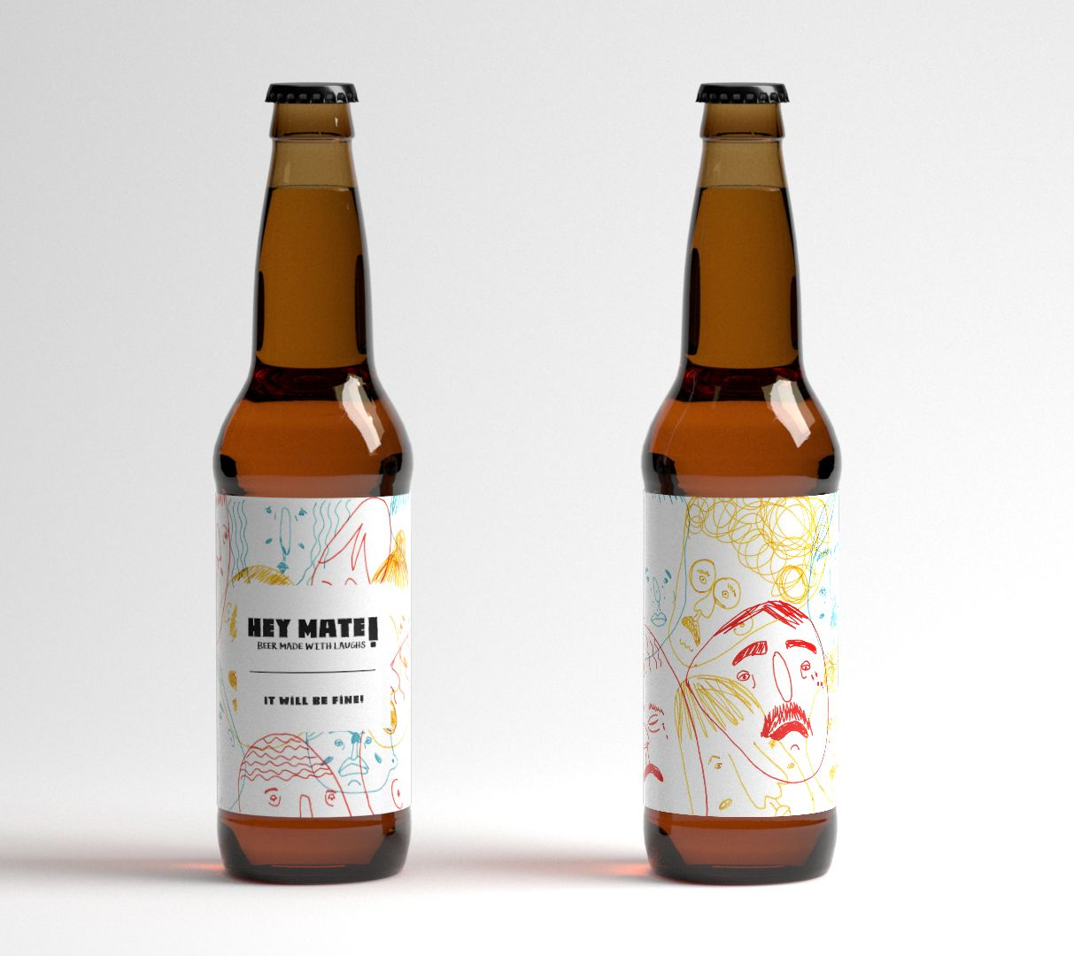 Hey mate! Beer made with Laughs