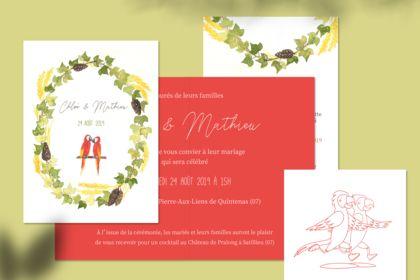 Faire-part de mariage de Chloé & Mathieu