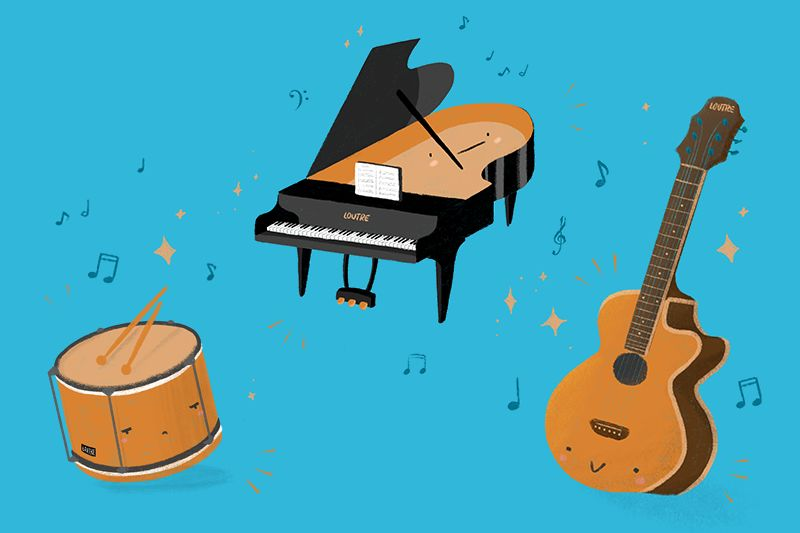 Illustration instruments de musique