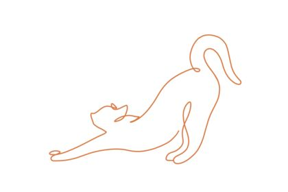 "Illustration de chat ""one-line"""