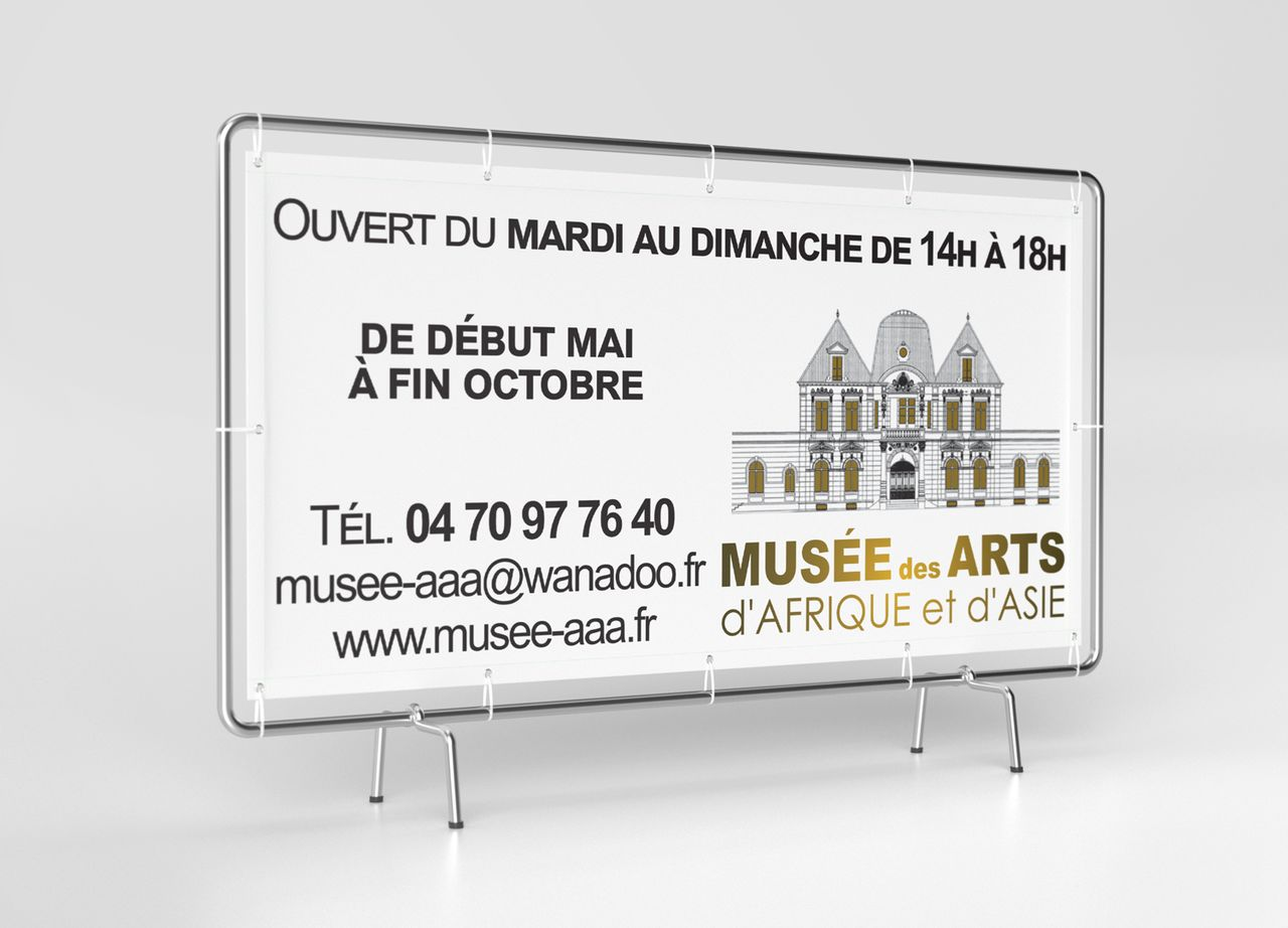 Bâche Publicitaire Musée AAA