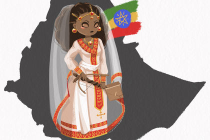 Ethiopie tenue et instrument traditionnels