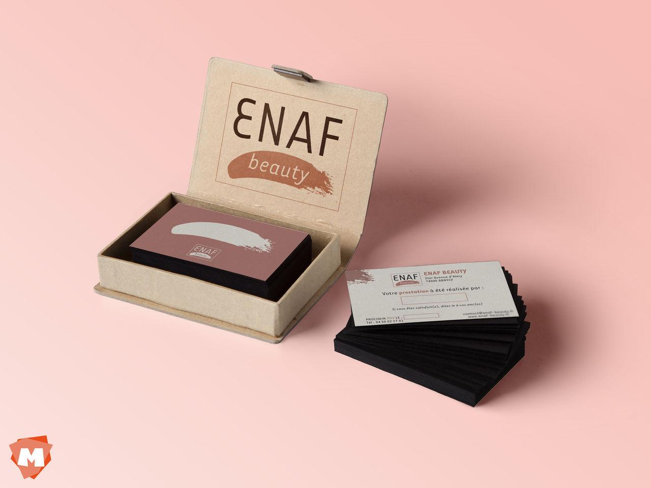 Cartes de visite ENAF Beauty