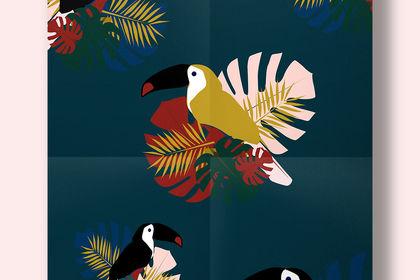 Réalisation d'un motif tropical sur Illustrator