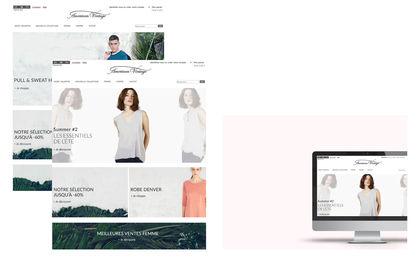 Webdesign du site de la marque American Vintage