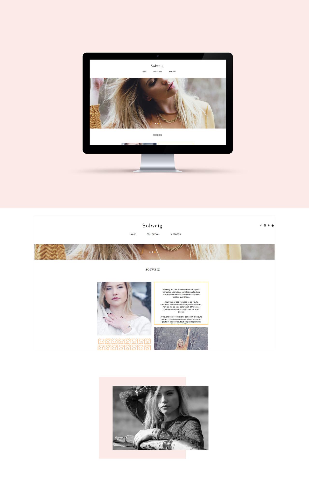 Webdesign du site Solweig bijoux