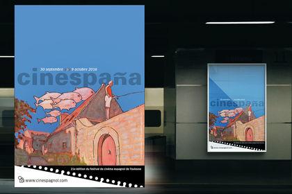 Affiche festival de cinéma espagnol de Toulouse