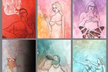 Série d'illustrations