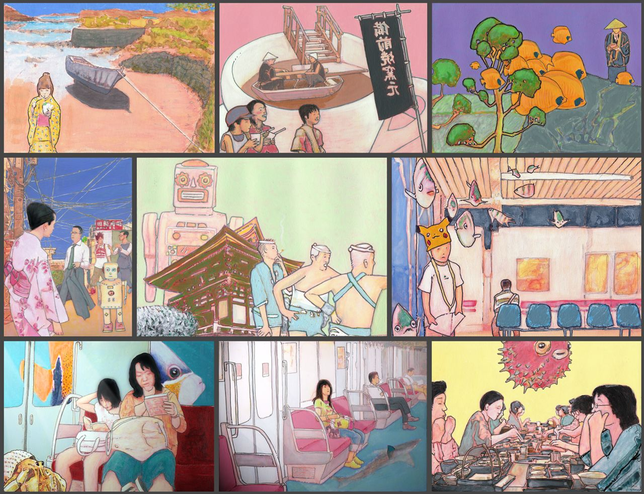 Illustrations sur le Japon